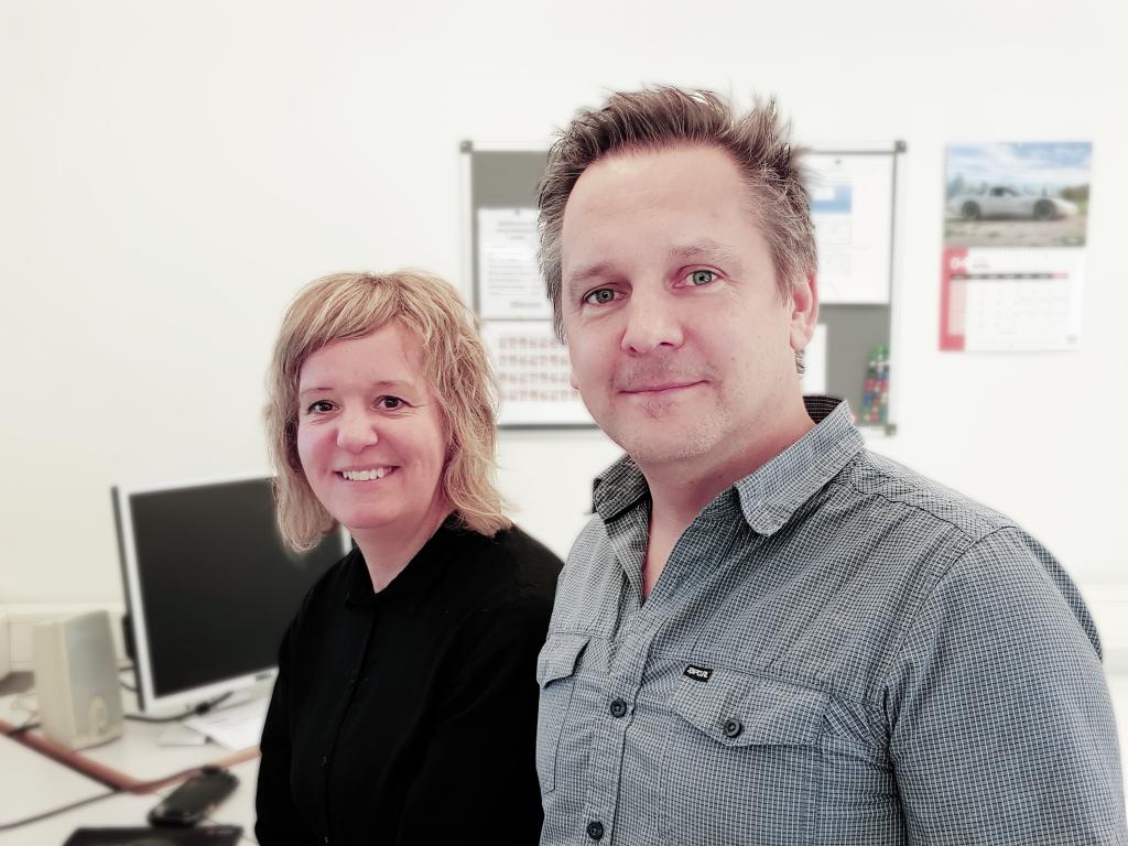 Prepressavdelningen sköts av Göran Klavestrand och Markus Blohm