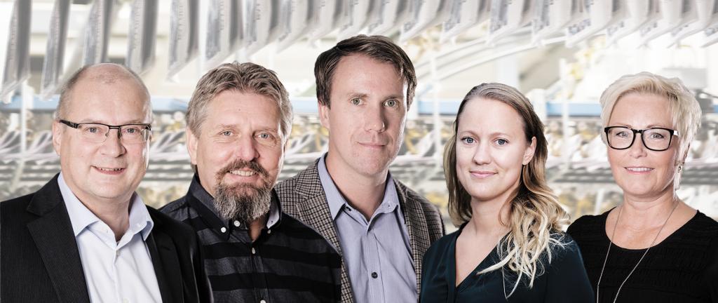 Ann Franzén och Per-Gunnar Stahre är Pressgrannars marknadsavdelning