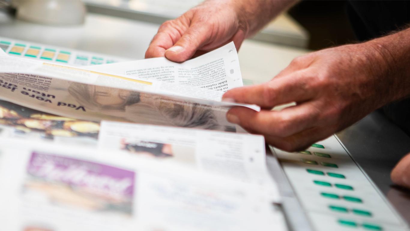 Montering av tryckplåtar i pressen